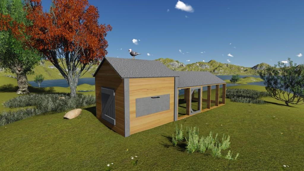 plan poulailler 15 poulaillers construire soi m me plans. Black Bedroom Furniture Sets. Home Design Ideas