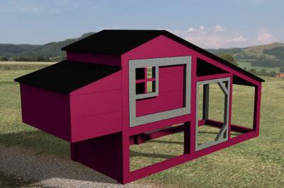 plan de poulailler. Black Bedroom Furniture Sets. Home Design Ideas
